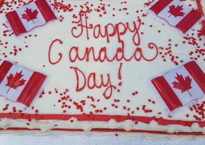 Happy Canada Day cake